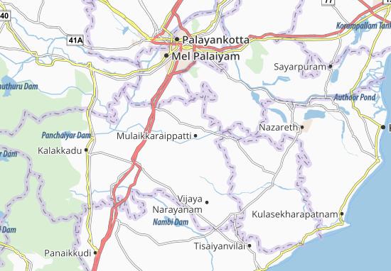 Kaart Plattegrond Mulaikkaraippatti