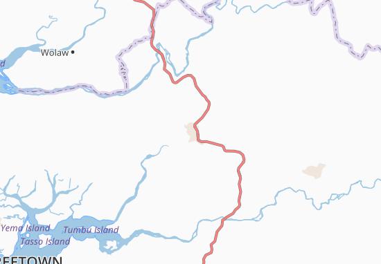 Carte-Plan Port Loko