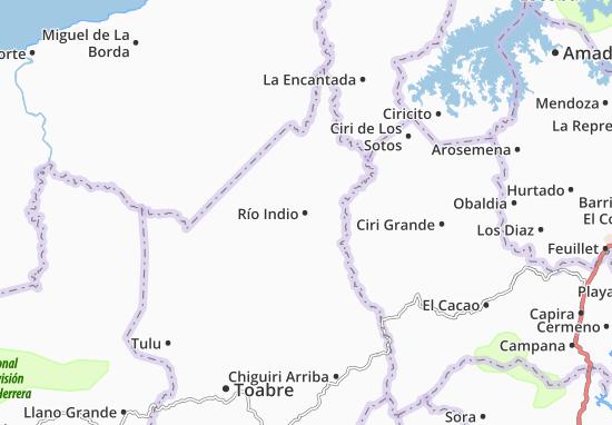Carte-Plan Río Indio