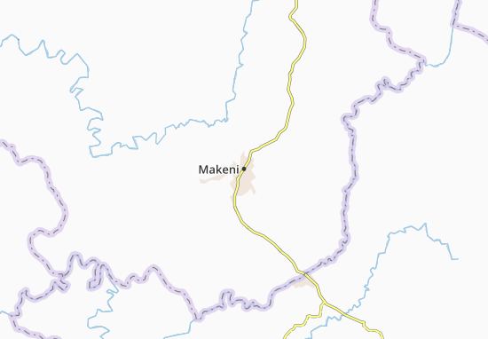 Mapa Plano Makeni