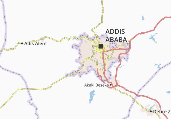Carte-Plan Kolfe Keranyo Zone 4
