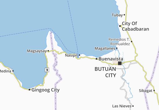 Nasipit Map