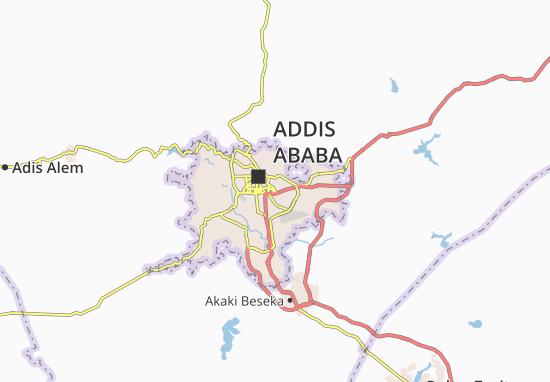 Carte-Plan Kirkos Zone 18