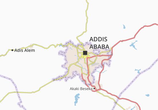 Carte-Plan Addis Ketema Zone 7