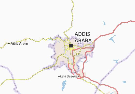 Carte-Plan Addis Ketema Zone 5