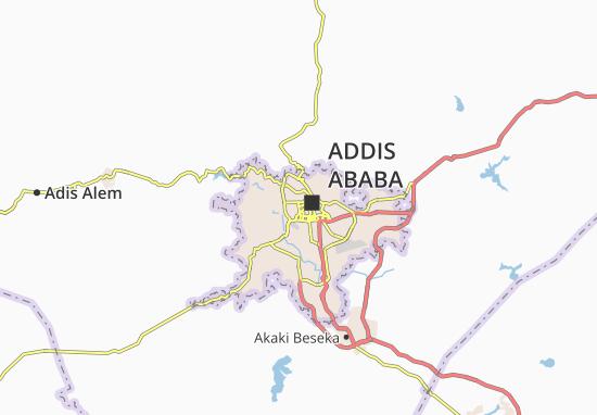 Carte-Plan Addis Ketema Zone 4