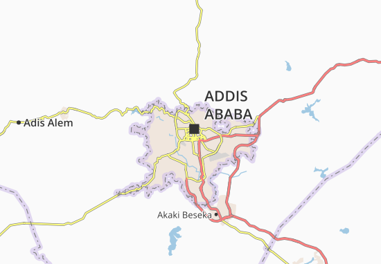 Carte-Plan Addis Ketema Zone 2