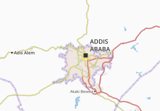 Carte-Plan Addis Ketema Zone 9