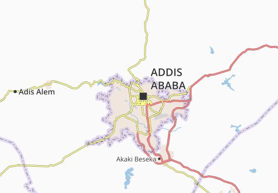 Carte-Plan Addis Ketema