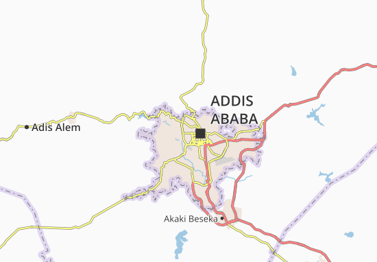 Carte-Plan Addis Ketema Zone 17