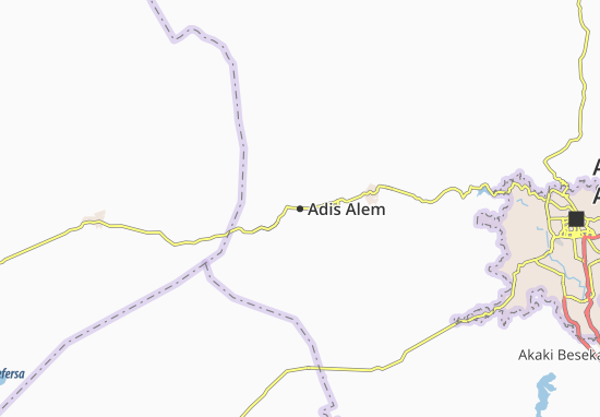 Carte-Plan Adis Alem
