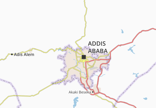 Carte-Plan Addis Ketema Zone 19