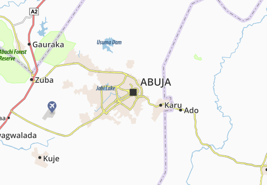 Abuja Map Detailed Maps For The City Of Abuja ViaMichelin - abuja map