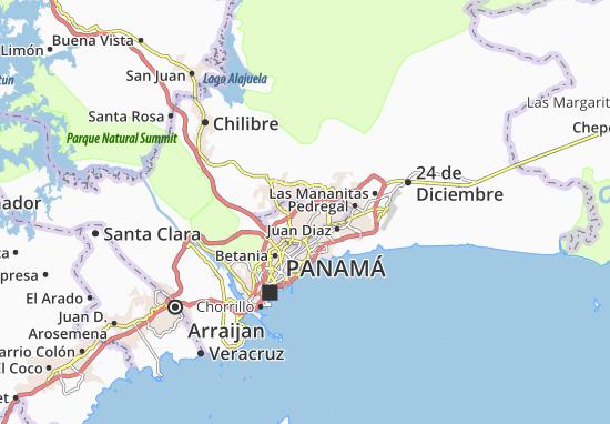 Carte-Plan Arnulfo Arias