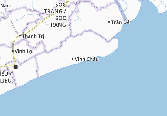 Kaart Plattegrond Xã Vĩnh Châu