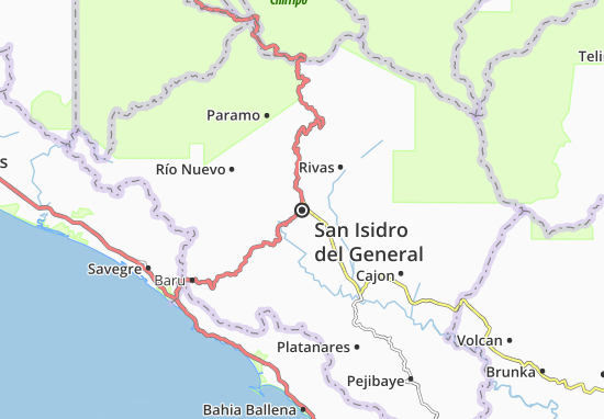 Mappe-Piantine San Isidro del General