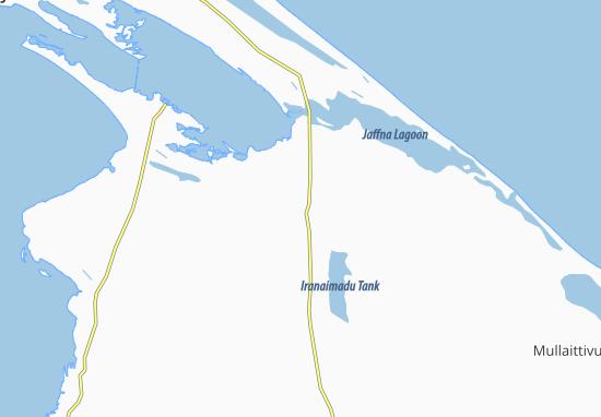 Kaart Plattegrond Iranaimadu