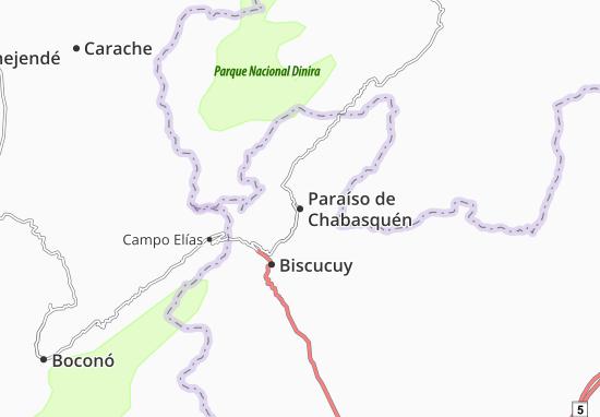 Carte-Plan Paraíso de Chabasquén