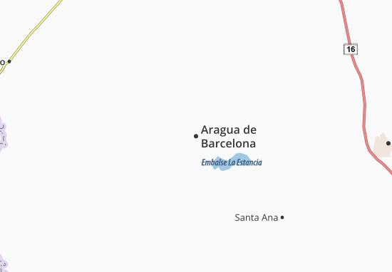 Carte-Plan Aragua de Barcelona