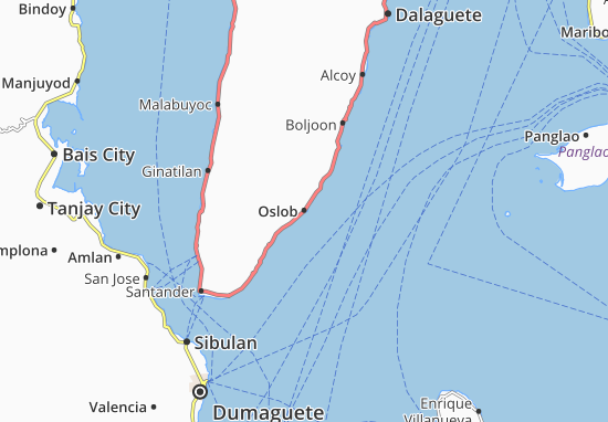 Carte-Plan Oslob