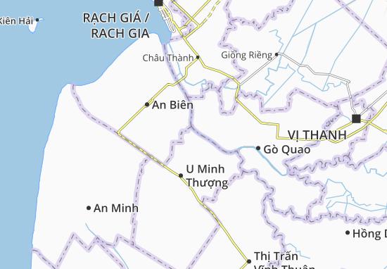 Thạnh Yên A Map