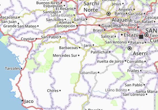 Mappe-Piantine Mercedes Sur