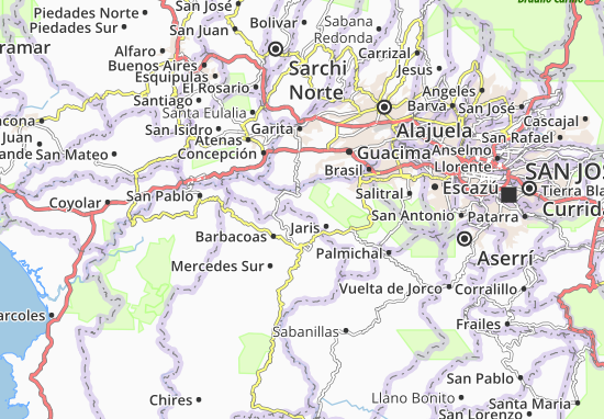 Map of Chile Michelin Chile map ViaMichelin – Tourist Attractions Map In Chile