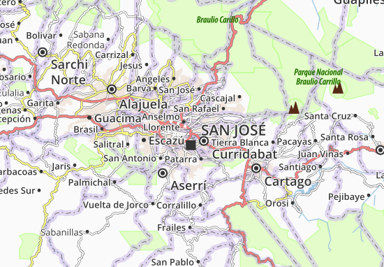 Carte-Plan San Pedro