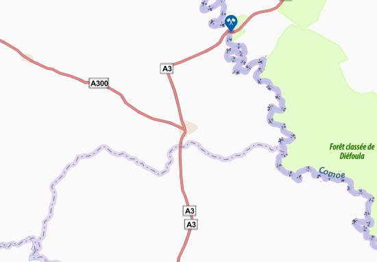 Carte-Plan Ouangolodougou