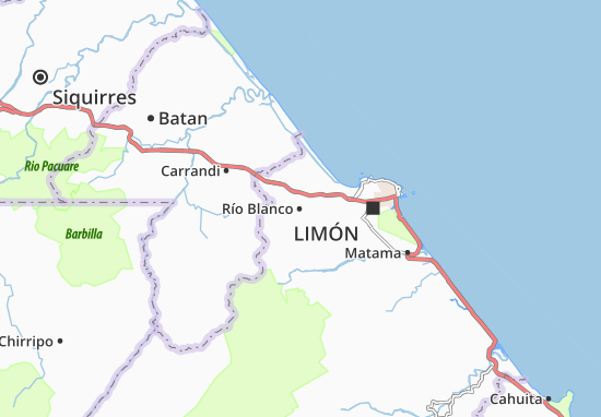 Río Blanco Map