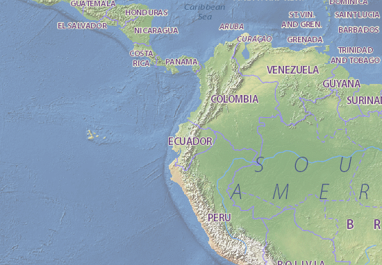 Map of Ecuador Michelin Ecuador map ViaMichelin – Ecuador Tourist Attractions Map