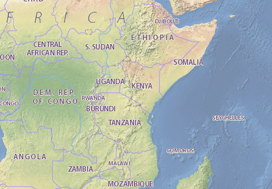Kenya Map Detailed maps for the city of Kenya ViaMichelin – Kenya Tourist Attractions Map