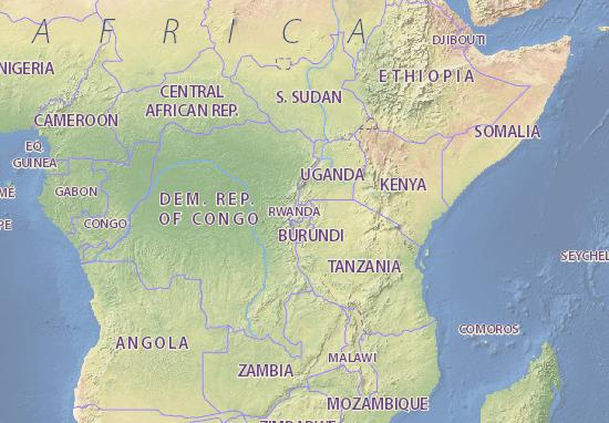 Map Of Rwanda Michelin Rwanda Map ViaMichelin - Rwanda map