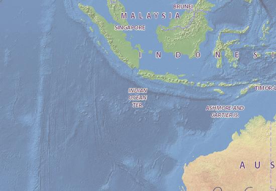 Mapa Plano Christmas Island