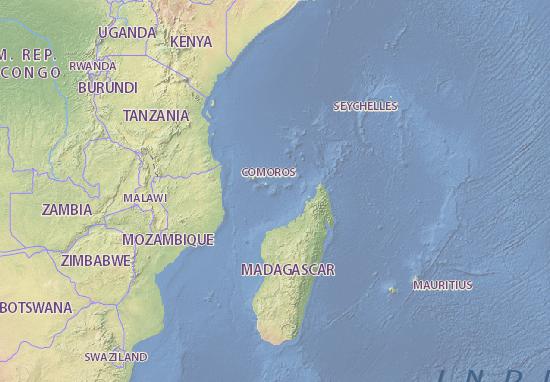 mayotte carte Carte détaillée Mayotte   plan Mayotte   ViaMichelin