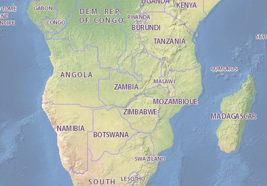Zambia map - maps, interactive maps - ViaMichelin