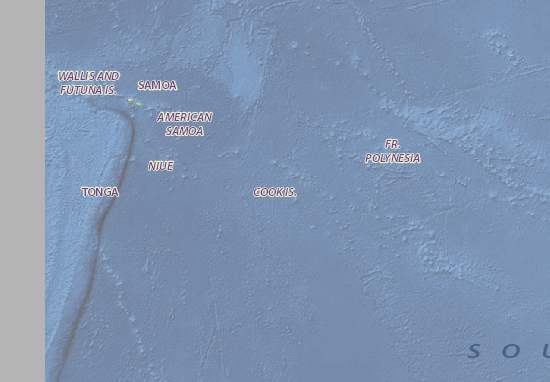 Mapa Plano Cook Islands