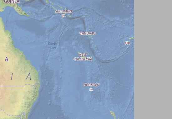 Carte-Plan Nouvelle-Caledonie