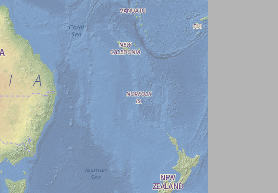 Mapa Plano Norfolk Island