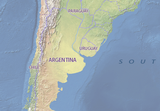 Map of Argentina - Michelin Argentina map - ViaMichelin