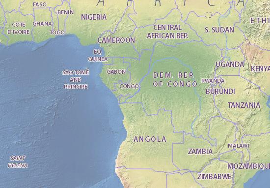 Map of Democratic Republic of the Congo - Michelin Democratic ... Dem Rep Of Congo Map on