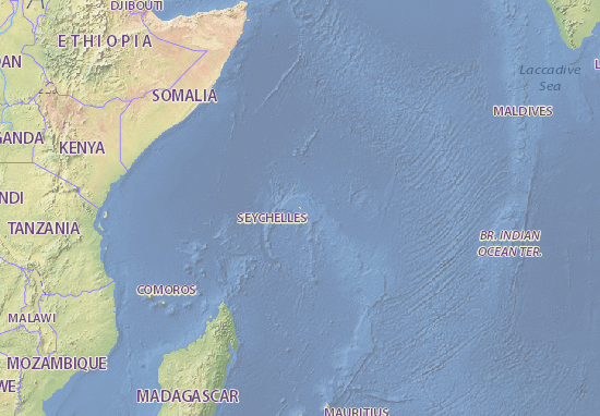 Seychelles Map Maps Interactive Maps ViaMichelin - Seychelles interactive map
