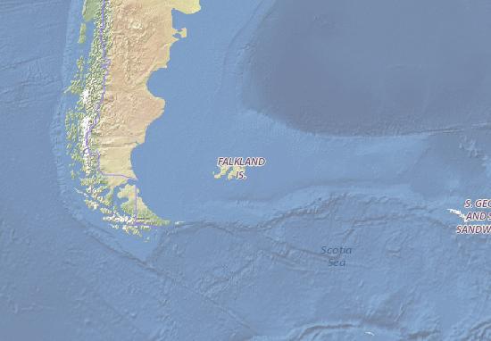 Carte-Plan Falkland Islands