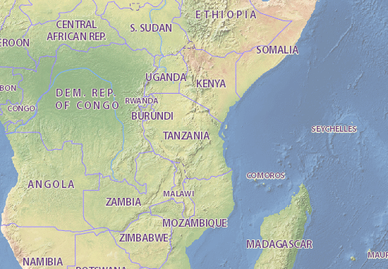 Tanzania Map Maps Interactive Maps ViaMichelin - Seychelles interactive map