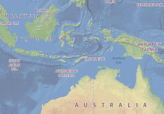 Karte Stadtplan Timor Lorosa'e
