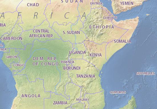 Uganda map - maps, interactive maps - ViaMichelin