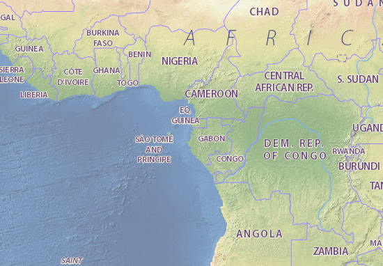 Map Of Gabon Michelin Gabon Map ViaMichelin - Where is gabon on the world map