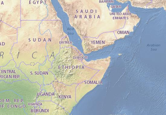 Djibouti map - maps, interactive maps - ViaMichelin