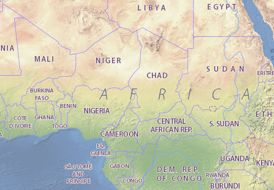 Map of Chad - Michelin Chad map - ViaMichelin
