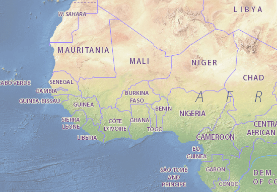 Carte-Plan Burkina Faso